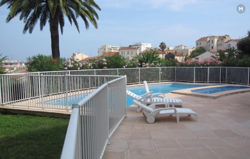 Cannes, Holiday and Congress, two large rooms, air conditioning, terrace, swimming pool, garage, @ MIPIM 2018 Cannes