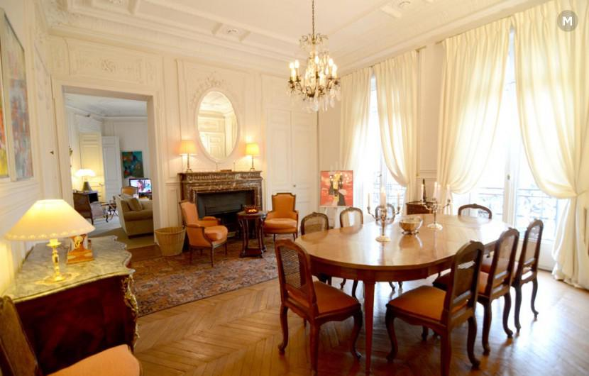 Haussmann palace appartement 175m 3 chambres coucher paris location - Location appartement paris atypique ...