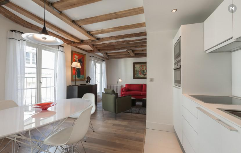 Apartment 55 m² 1 bedroom - Rue du Dragon - 11